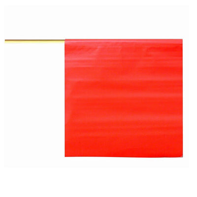 "Dicke Flag, Orange, 18"" With Wood Handle, Vinyl"