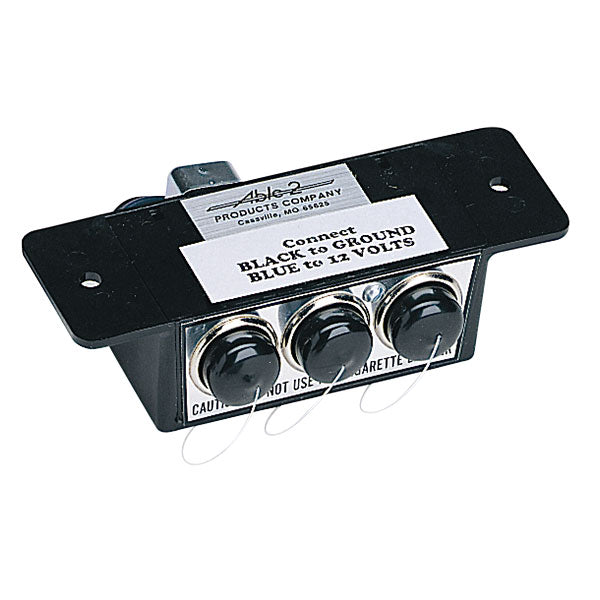 Able 2 Products Company Three Accessory Outlets In One Compact Box, 12V, 15 Amps Each