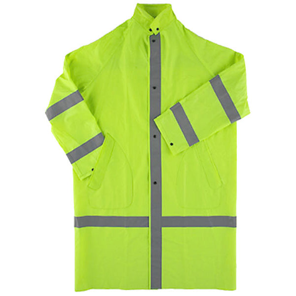 "Neese Industries 48"" 2-Piece Raincoat With Hood, Lime Green"