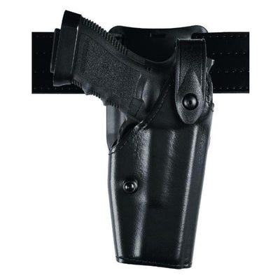 SafariLand 6285 Duty Holster Low-Ride Level II  STX Plain Black STX Series Thinner Molded Impact Polymer