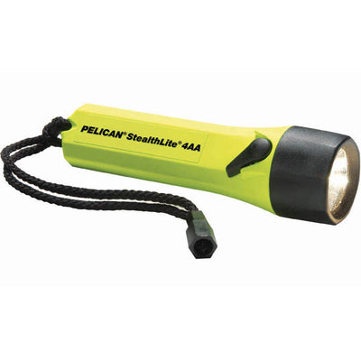 Pelican Stealthlite Flashlight With Alkaline Batteries