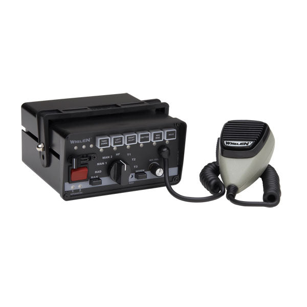 Whelen 295Sls Single Unit Siren W/ 9-Switch Light Control & Standard Switching W/ Park Kill & Timed Out Relay & 17 Scan-Lock Siren Tones