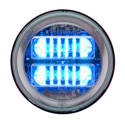 "Whelen 4"" Round Super-Led® Lighthead With Scan-Lock Flash Patterns & Extended Lens, Synchronizable"