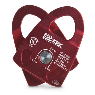 CMC Rescue Rescue Pulley, Single, Burgundy