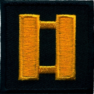 Hero's Pride  Embroidered Twill Rank Patch Dark Gold on Black