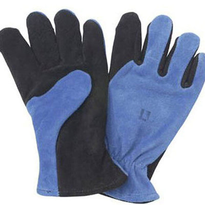 Shelby Specialty Gloves General Purpose Glove, Cowhide, Blue/Black