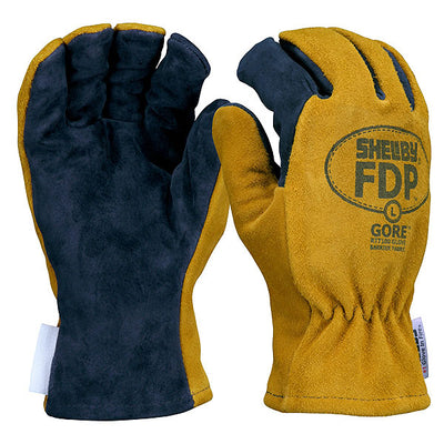 Shelby Specialty Gloves Fdp Fire Fighter Gloves, Pigskin W/ Gore Rt7100 Glove Barrier, Gold/Black