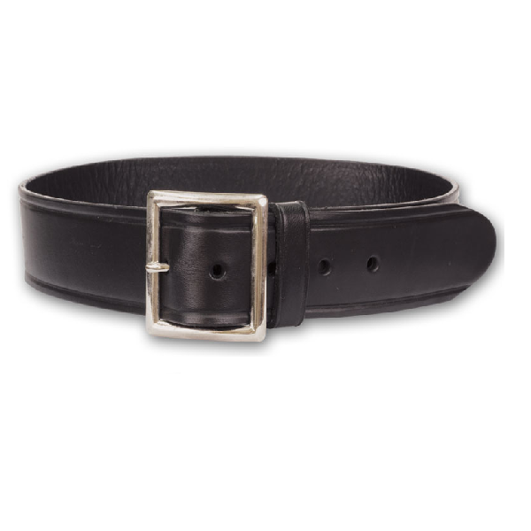Perfect Fit Leather Garrison Belt, Chrome Buckle