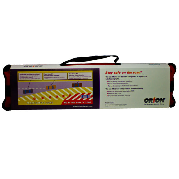 Orion Safety Products Roadside Emergency Flare Kit With Six 30 Minute Flares (0730 Flare)
