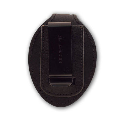 Perfect Fit Universal Badge Clip, Hook & Loop Closure, Black