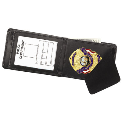 Strong Leather Company Hidden Badge Credit Card Wallet