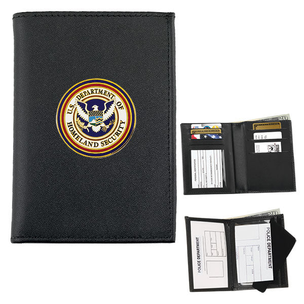 Strong Leather Company Double Id & Credit Card Wallet For Your Challenge  Coin, Black