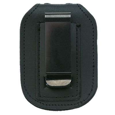 Strong Leather Company Recessed Double Thick Clip On Hook & Loop Closure Badge Holder W/Clip & Hidden Pocket For Chain
