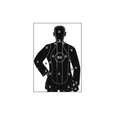 Law Enforcement Targets B-21X Police Training Silhouette With 5X Ring, Full Size