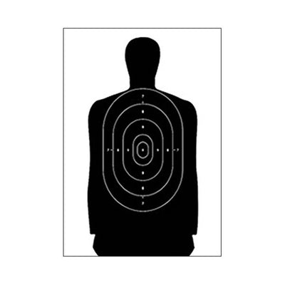 Law Enforcement Targets Standard Paper Target, Full Size Silhouette