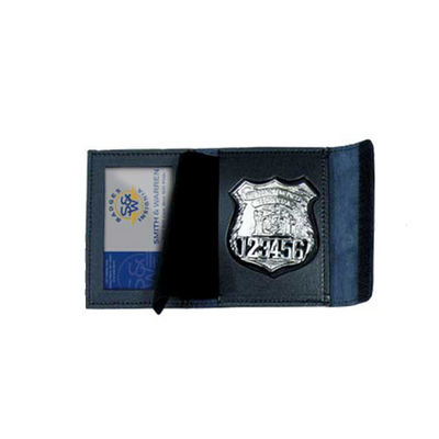 Smith & Warren BC4000V Badge & Single Id Case W/ Hook & Loop Closure, Book Style - Max ID Size: 2.25 X 3.25 inches