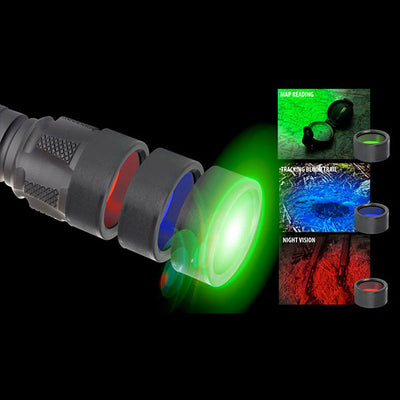 Brite-Strike Technologies Hunter Pro Kit, Includes Bd-198-Hls-2C Flashlight, Holster & 3 Color Lenses (Red, Green, Blue)