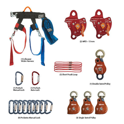 CMC Rescue Rope Rescue Team Kit & Mpd Rigging Kit Combo