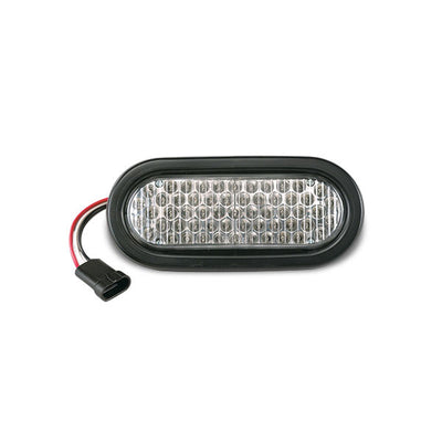 "Soundoff Signal O6 Series (6"" Oval) Gen2 Led Light For Recess Mount Includes Rubber Grommet, Amp Sure Seal Connector & Mating Harness - Clear Lens"