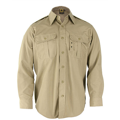 Propper Battle Rip Tactical Dress Shirt, Long Sleeve, Sheriff Brown & Olive