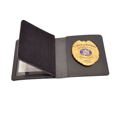 Smith & Warren BC128 Book Style Double ID & Badge Case (Duty Leather)