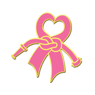 V H Blackinton Breast Cancer Awareness Lapel Pin w/ Clutch Back Pin
