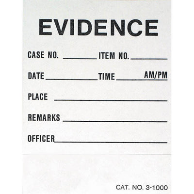 Forensics Source (100/Pk) Chain Of Possession Labels