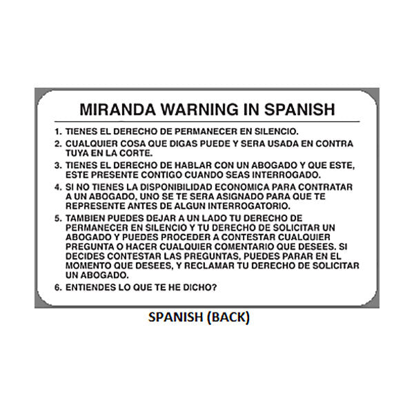 Astounding image inside miranda warning card printable