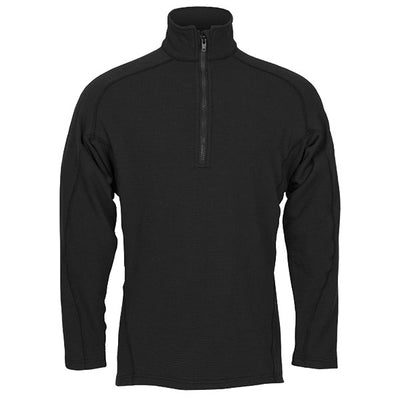 True North Power Grid Qtr Zip Dual Hazard Shirt (9.2 Oz), Black