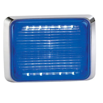 Federal Signal Quadraflare Led, 9X7, Clear Lens