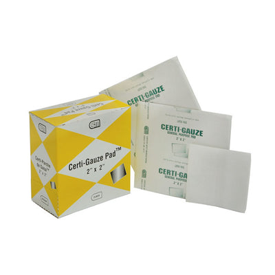 Certified Safety Manufacturing Certi-Gauze Pads, Sterile, Non-Woven, Non-Stick