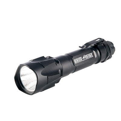 Brite-Strike Technologies Rhight Duty Flashlight W/ Tactical Blue Dot® Switch, Rechargeable, Black