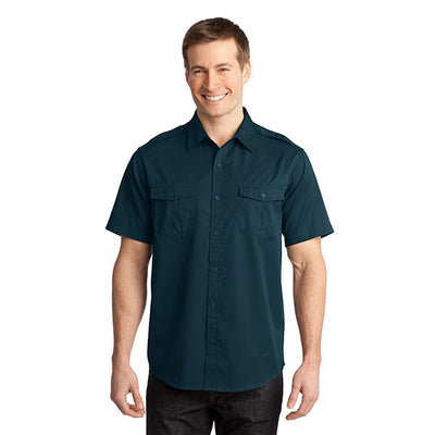 Port Authority Stain-Resistant Short Sleeve Twill Shirt
