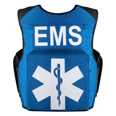 SafariLand V1 Ems Carrier, Fixed Pockets, Royal Blue (Specify Size)