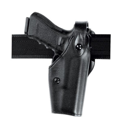 SafariLand 6285 Duty Holster Low-Ride Level II  Leather Look Plain Black