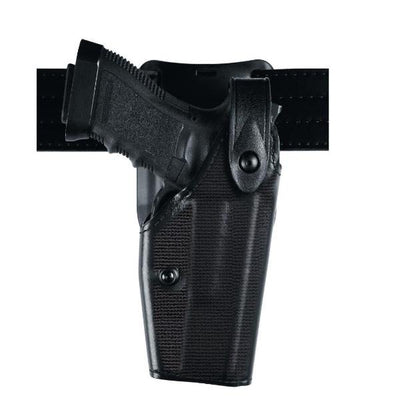 SafariLand 6285 Duty Holster Low-Ride Level II  Leather Look Nylon Look