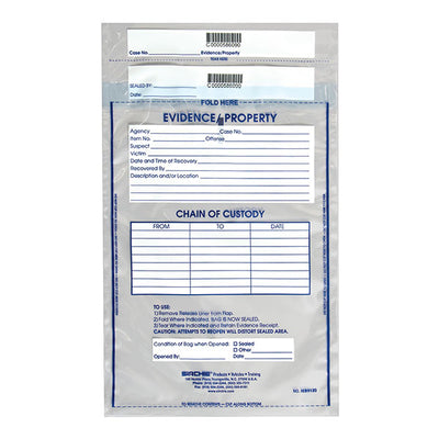 Sirchie Integrity Evidence Bag, 100 Per Pack