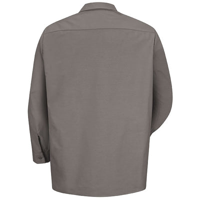 VF Imagewear Industrial Solid Work Long-Sleeve Shirt, Charcoal & Grey