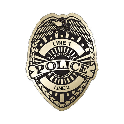 AD Concepts Police Badge Stickers