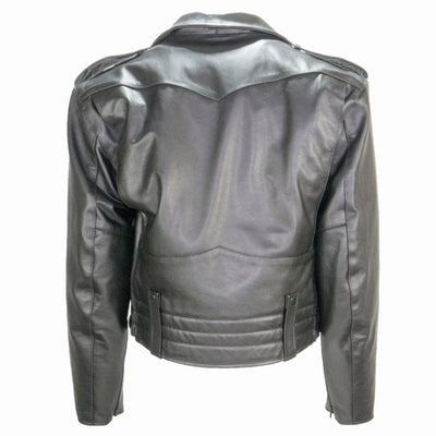 Taylors Leatherwear Pittsburgh Leather Jacket W/ Zip-Out Liner, Black
