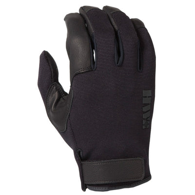 HWI Gear Unlined Spandex Knit & Goatskin Leather Duty Glove Black