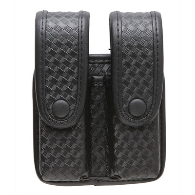 Uncle Mike's Divided Fitted Pistol Mag Case W/Flaps For Double Row Mags