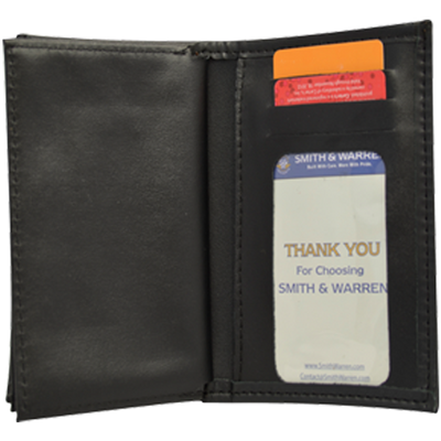 Smith & Warren BC121-A Bi-Fold Wallet With Double Id And 3 Cc Slots - Max ID Size: 3 X 5 inches