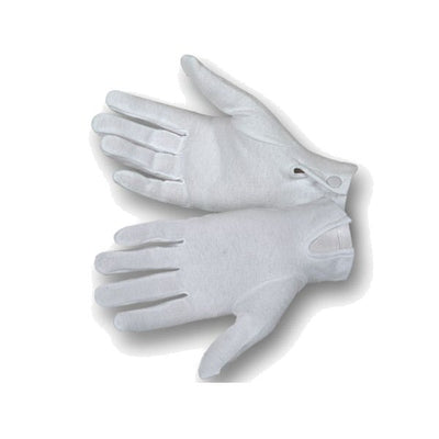 Hamburger Woolen WG1000S Cotton Parade XL Glove W/Snap Back, White - Extra Large