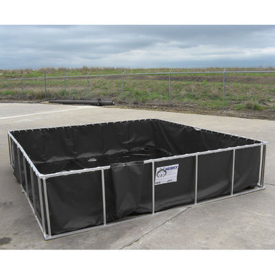 Husky Portable Containment Aluminum Folding Frame Water Tanks W/ Pinch-Free Frame