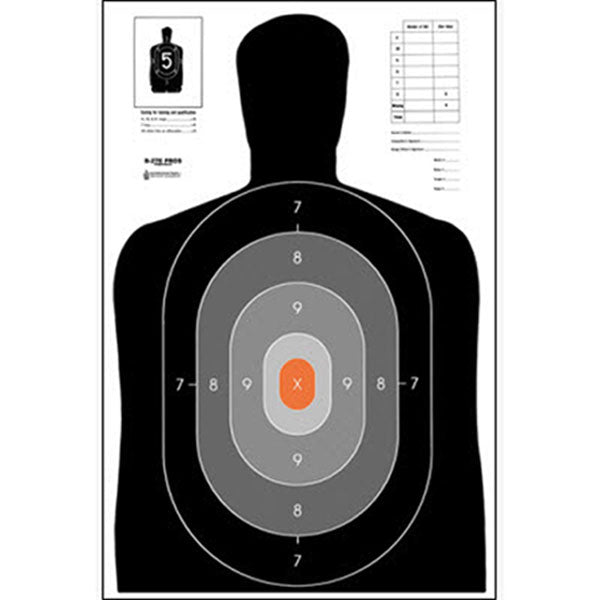 Law Enforcement Targets B-27E Ncja Pros Training Silhouette, 25/Pk