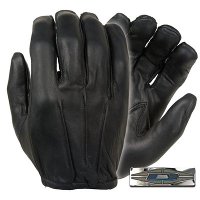 Damascus Worldwide D20P Dyna-Thin Unlined Leather Gloves, W/ Short Cuff, Black