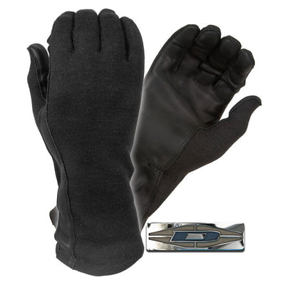 Damascus Worldwide Dnxf190 Flight Gloves W/ Nomex And Leather Palms, Black