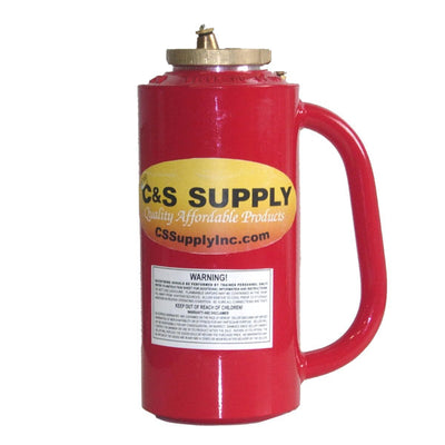 C&S Supply Dot/Osha Drip Torch, Red, 1.25 Gallons