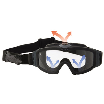 ESS Profile Turbofan Goggles, Black Frame, 2 Lenses (Clear & Smoke Gray)
